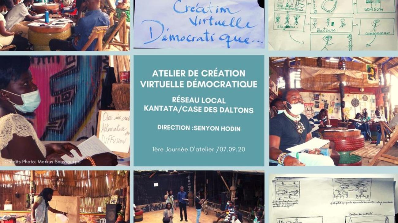 Miadé. Local Community Networks Atelier de création virtuelle démocratique ©Kantata